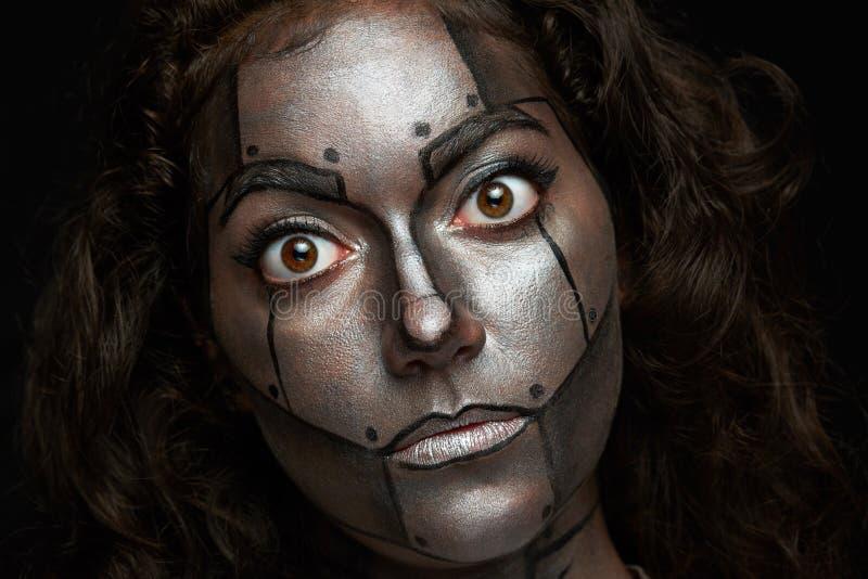 Donne con gli occhi rotondi fotografia stock libera da diritti