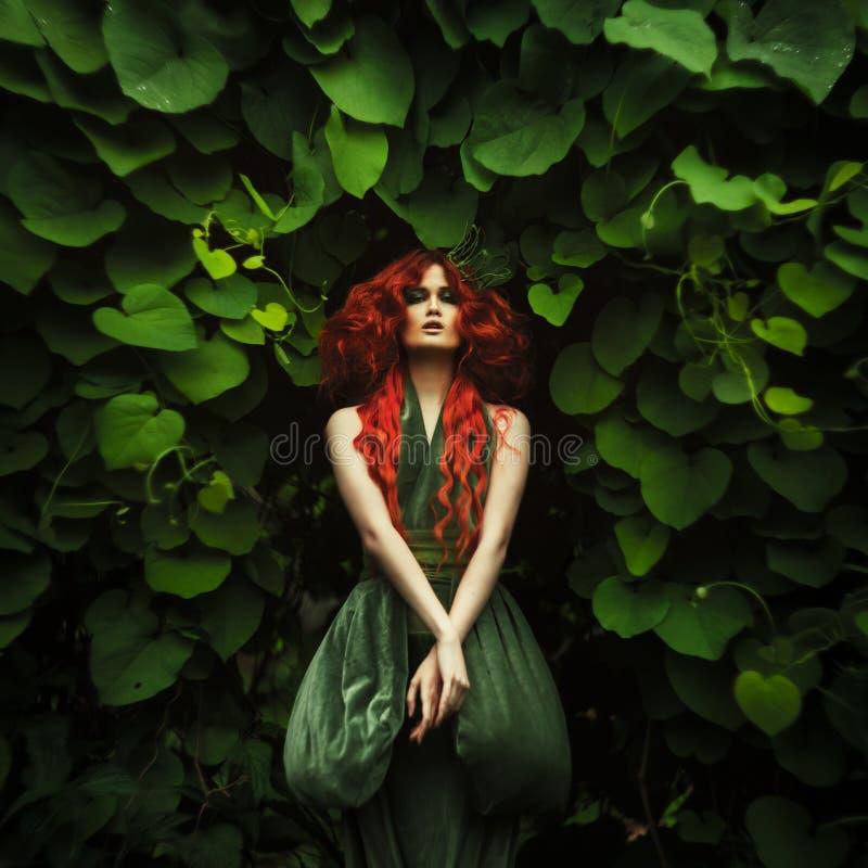Donne dai capelli rossi stupefacenti di modo immagini stock libere da diritti