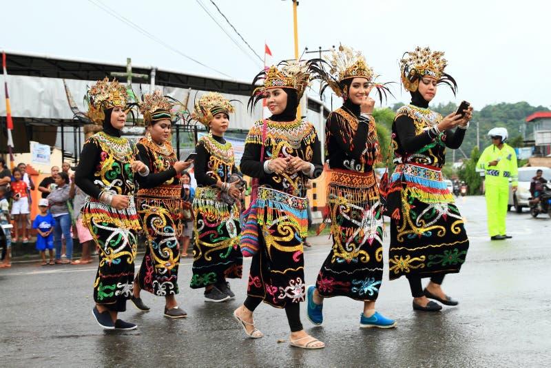 Donne dal Kalimantan fotografia stock