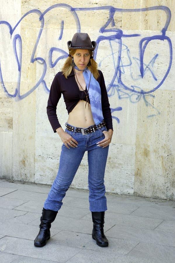 Donne del cappello fotografia stock