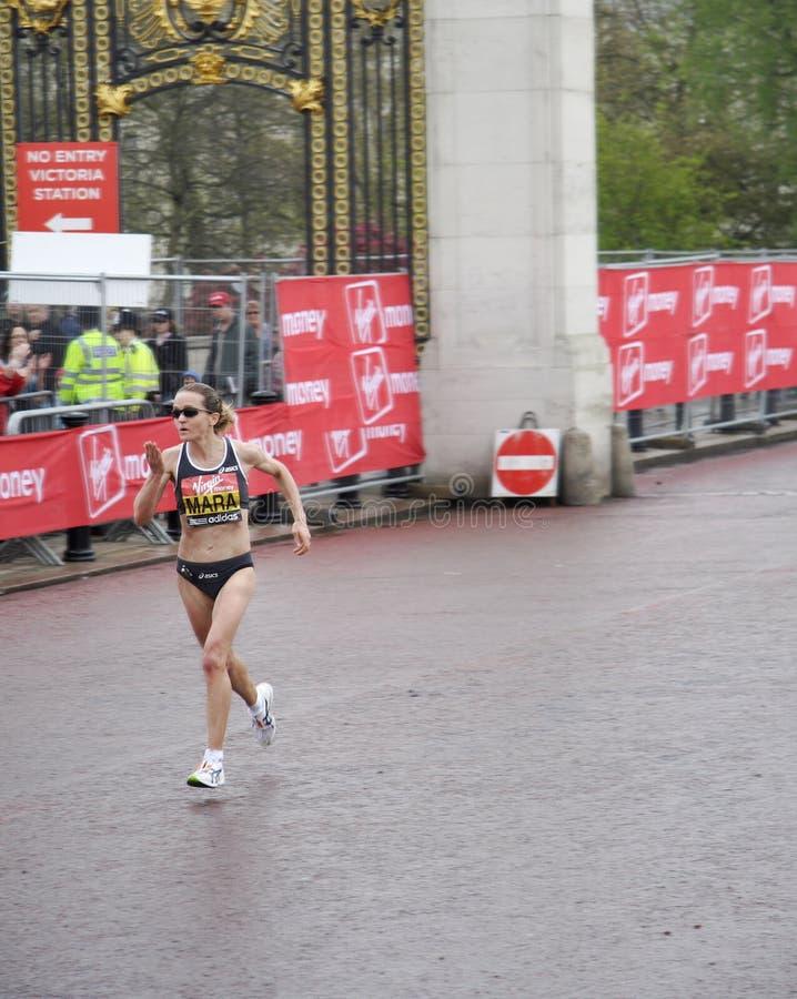 Donne dell'elite di maratona di Londra immagine stock