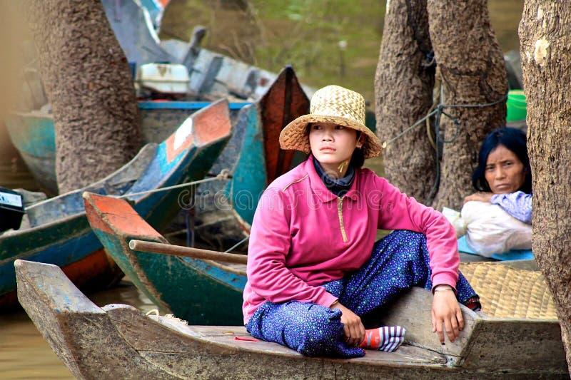 Donne della Cambogia fotografia stock