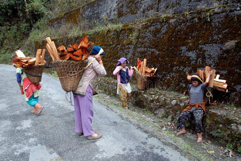 Donne della montagna immagine stock libera da diritti