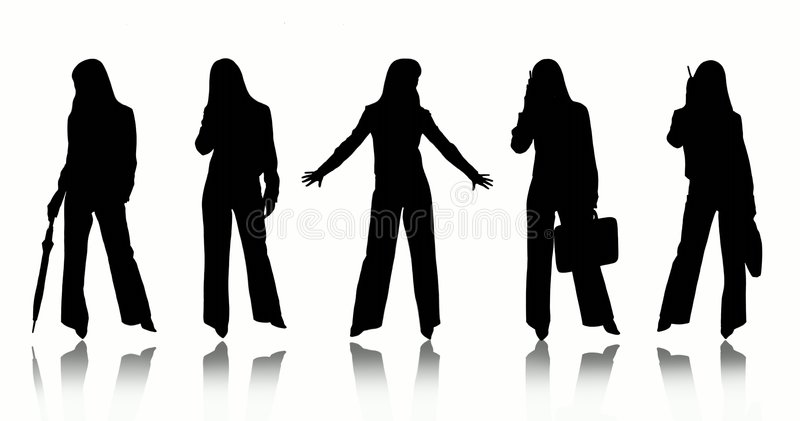 Donne di affari illustrazione di stock