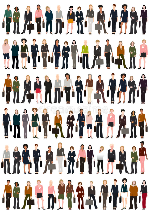 Donne di affari illustrazione vettoriale