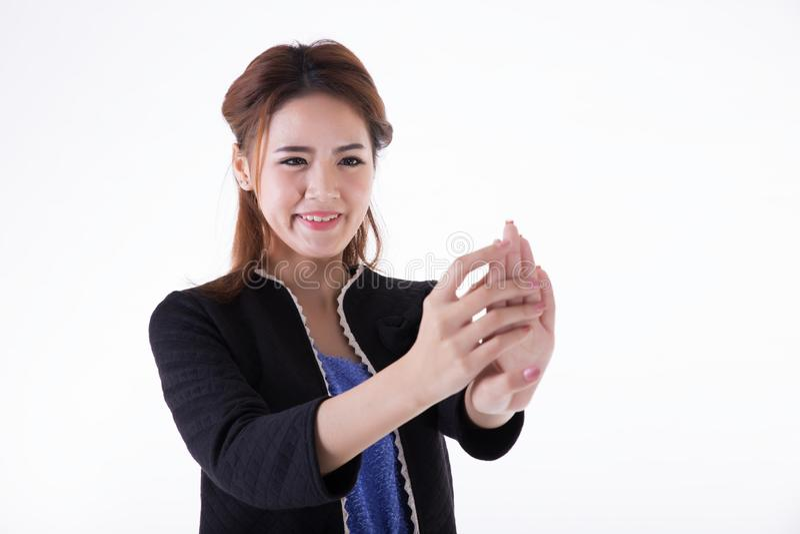 Donne di affari del chiodo di vista fotografia stock