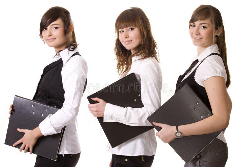 Donne di affari sorridenti fotografia stock libera da diritti