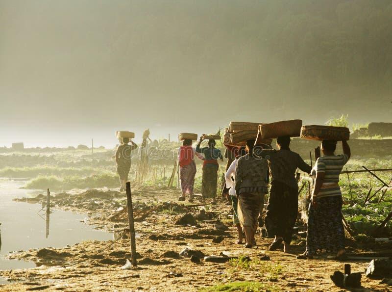 Donne di Balinese fotografie stock libere da diritti