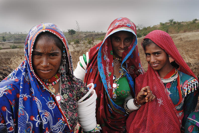 Donne di Banjara in India fotografia stock