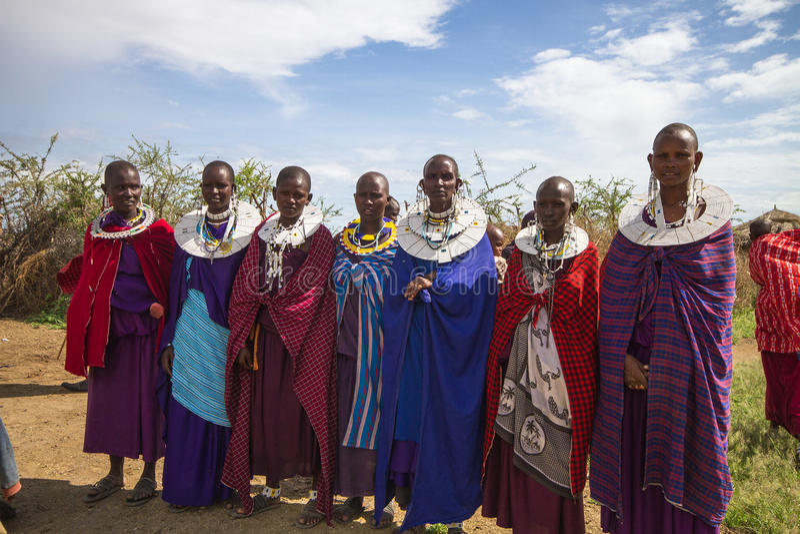 Donne di Maasai immagini stock libere da diritti