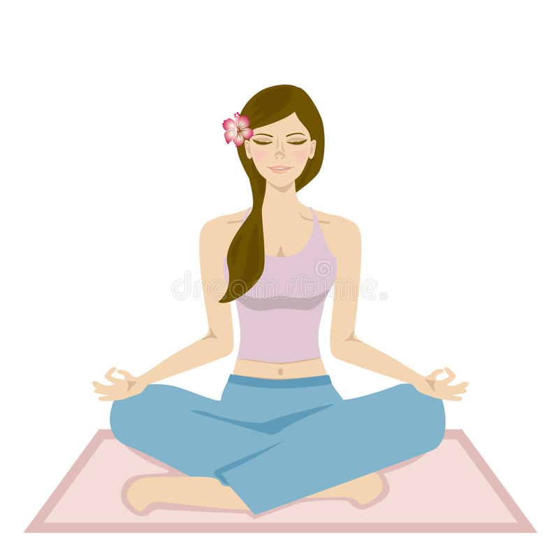 Donne di yoga illustrazione di stock