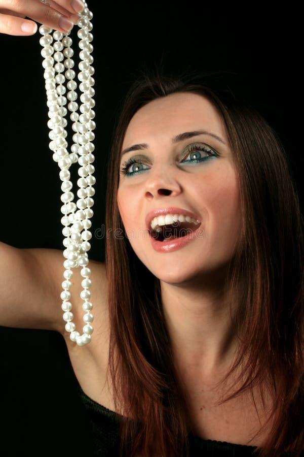 Donne e gioiello immagine stock