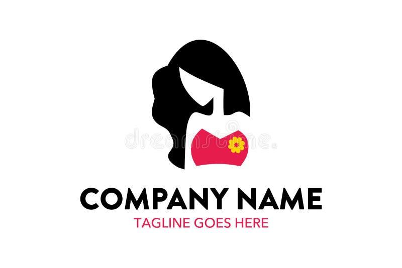 Donne e modello unici di logo di bellezza illustrazione di stock