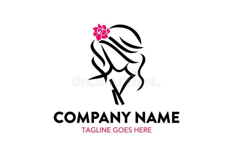 Donne e modello unici di logo di bellezza royalty illustrazione gratis