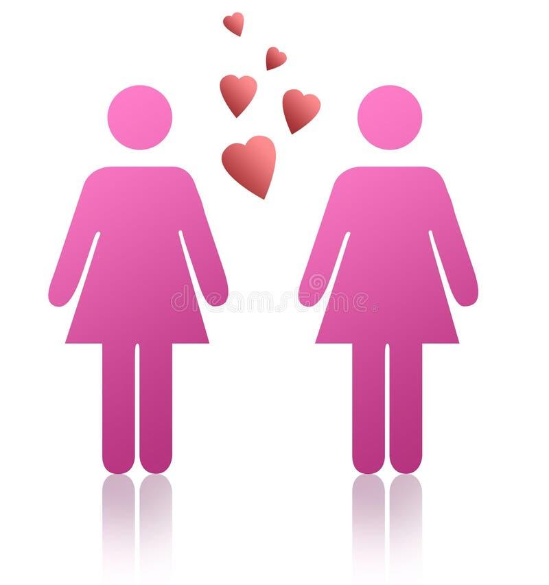 Donne gaie illustrazione vettoriale