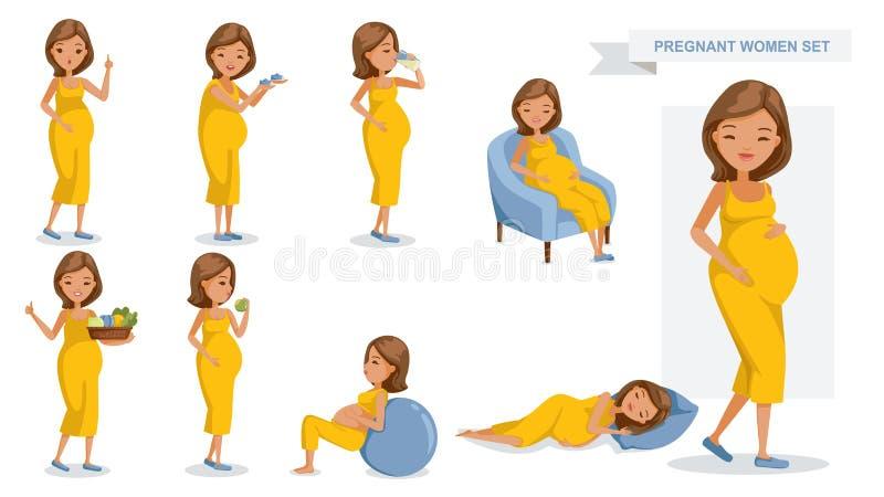 Donne incinte illustrazione vettoriale