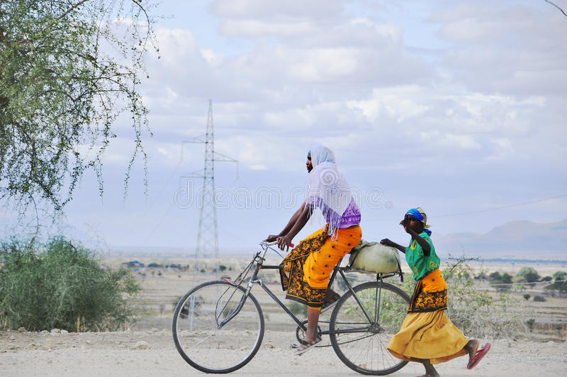 Donne masaie fotografie stock