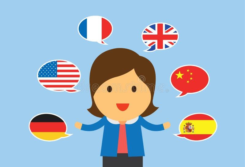 Donne multilingue illustrazione di stock