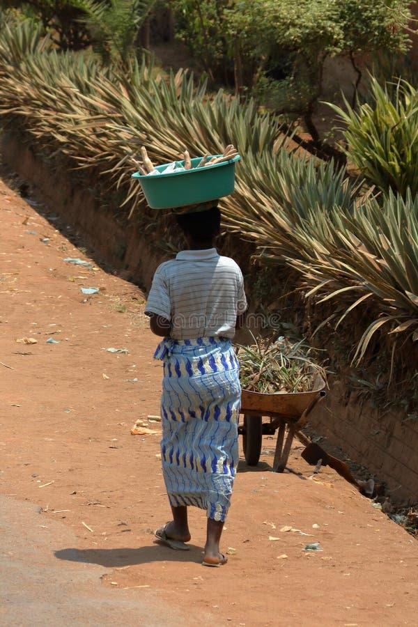 Donne nella campagna nel Malawi immagini stock