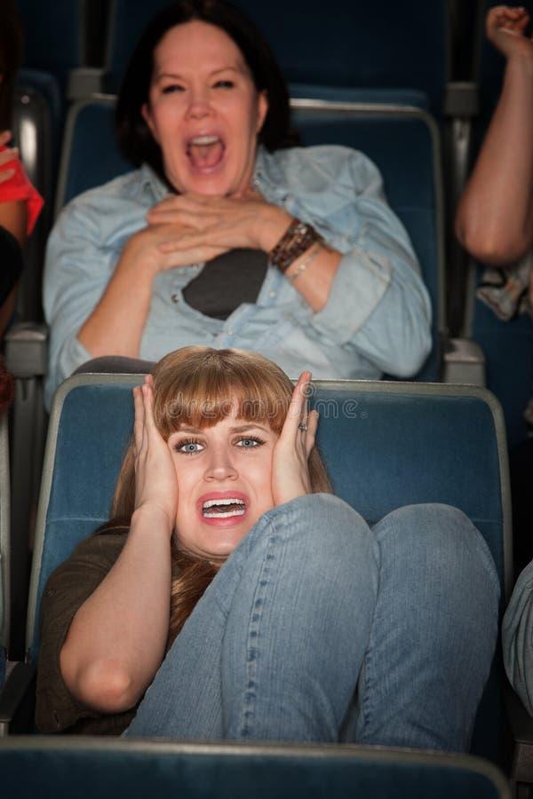 Donne spaventate fotografia stock