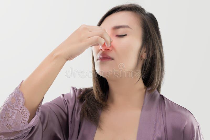 Donne tailandesi con emorragia nasale fotografia stock