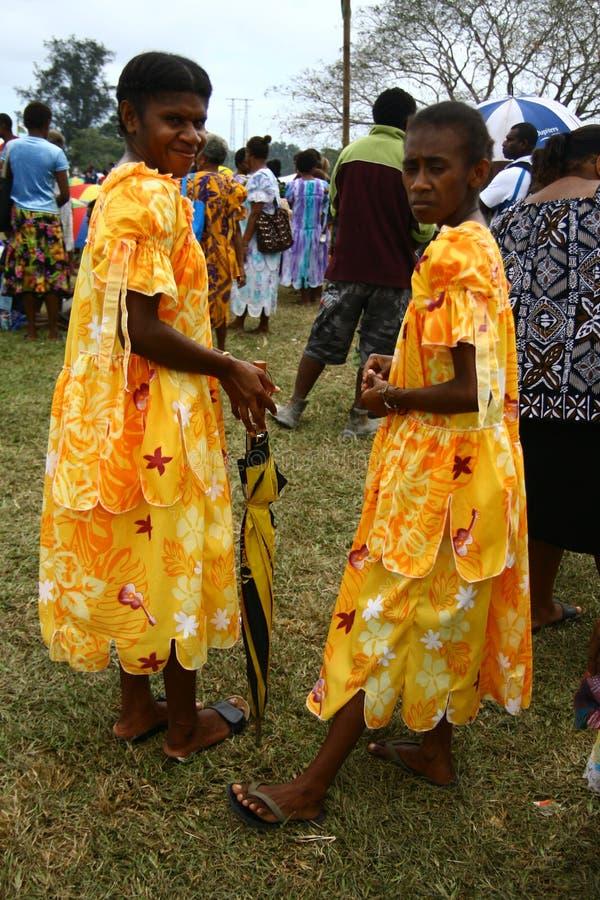 Donne tribali del villaggio del Vanuatu fotografia stock