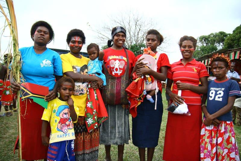Donne tribali del villaggio del Vanuatu fotografia stock libera da diritti