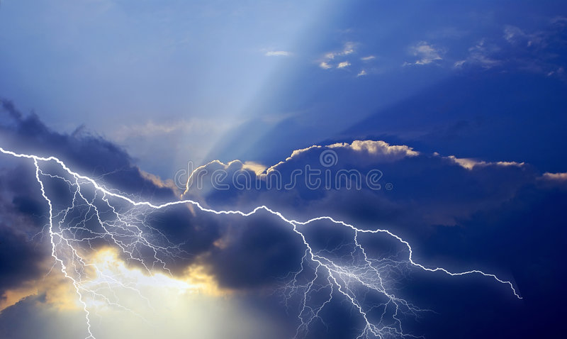 Donner ist himmlisch. lizenzfreie abbildung