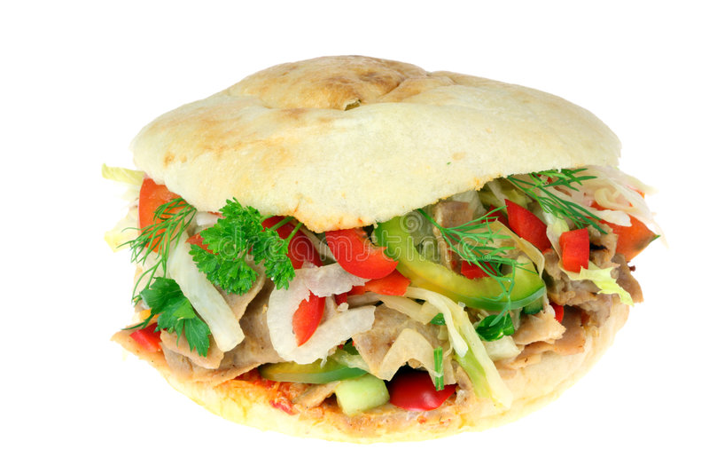 donner kebab 库存照片