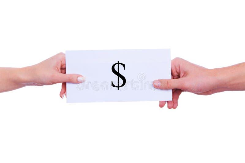 Donner l'argent photos stock