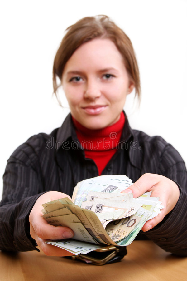 Donner l'argent images stock