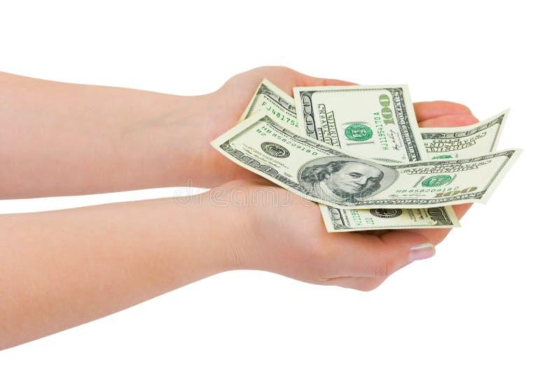 donner l'argent de main photo stock