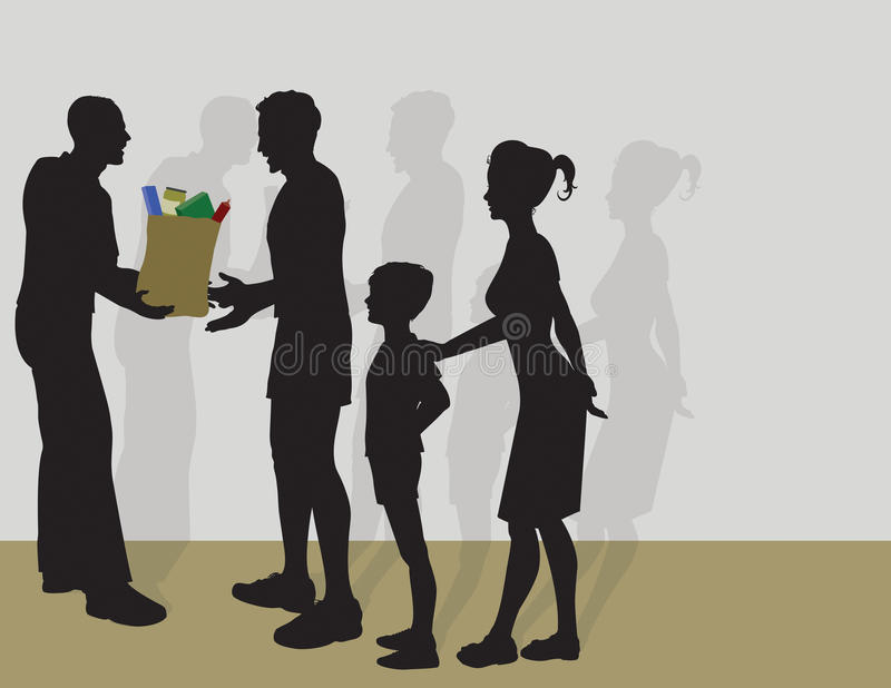 Donner la nourriture ILLUST v9 illustration libre de droits