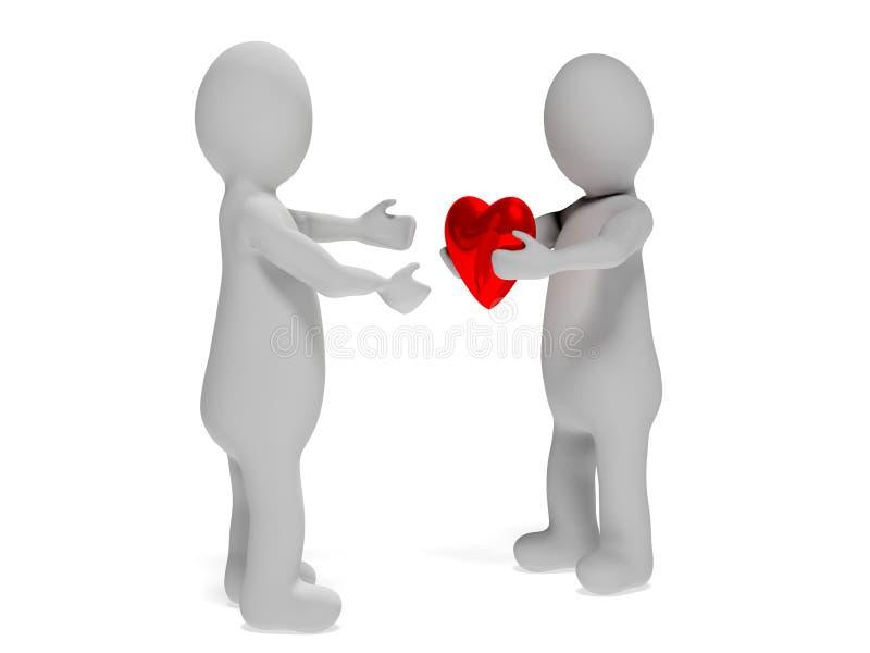 Donner le coeur illustration libre de droits