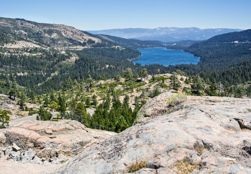 Donner See, Kalifornien lizenzfreie stockbilder