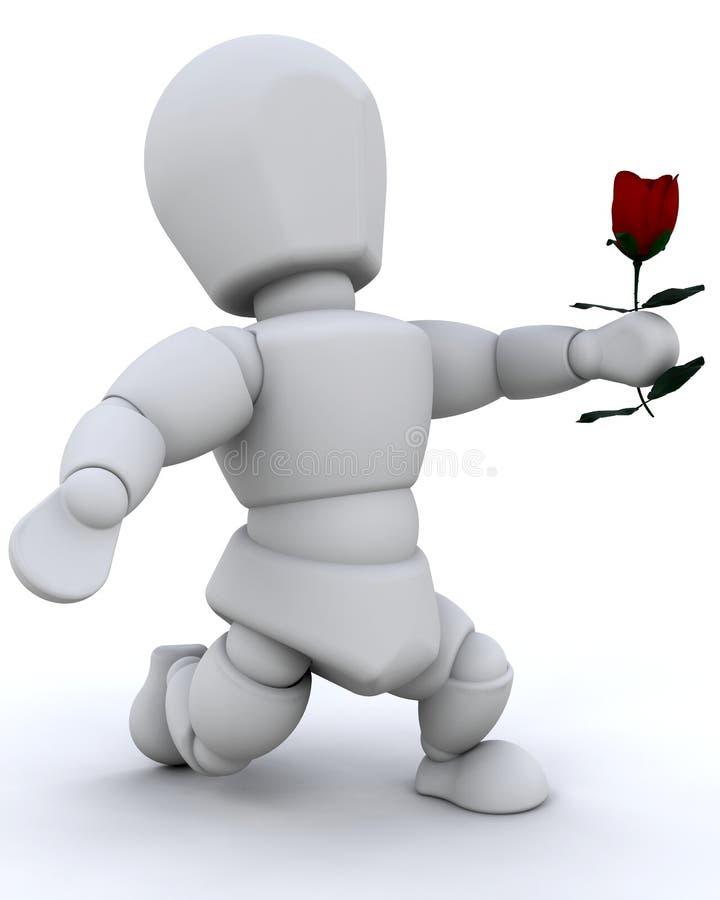 Donner une rose illustration de vecteur