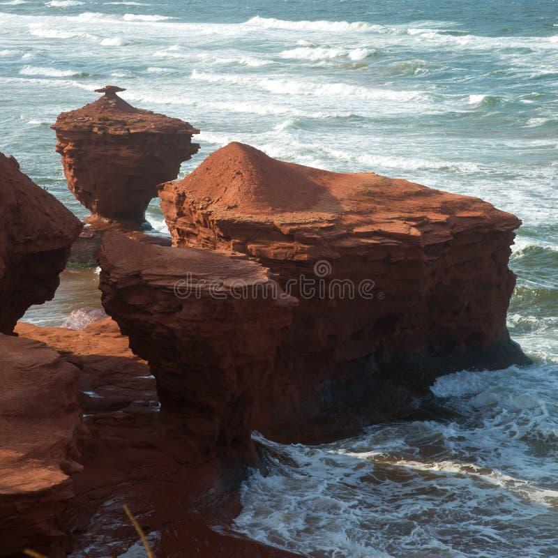 Donnern Sie Buchtstrand in Insel Prinzen Edward in Kanada lizenzfreies stockfoto