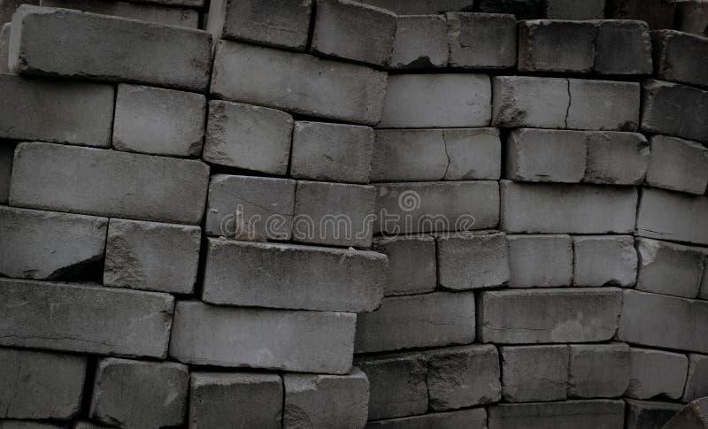 Donnez à la pile une consistance rugueuse des briques sales et vieilles abandonnées Papier peint grunge de style photo libre de droits