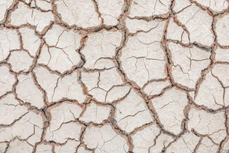 Donnez au backgr une consistance rugueuse sale de grain de détresse de recouvrement fendu par sécheresse de sol photographie stock