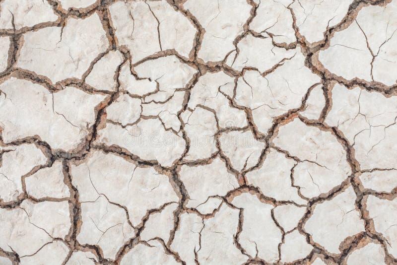 Donnez au backgr une consistance rugueuse sale de grain de détresse de recouvrement fendu par sécheresse de sol image libre de droits