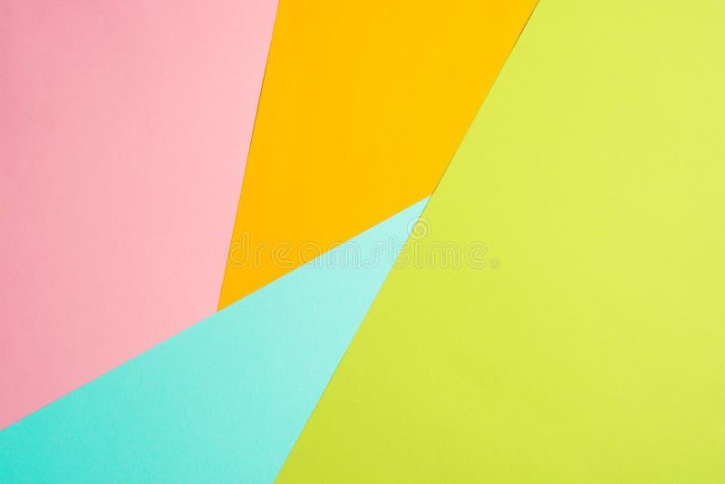 Donnez au fond une consistance rugueuse de couleur en pastel ? la mode avec la vue sup?rieure, concept minimal, configuration pla images stock
