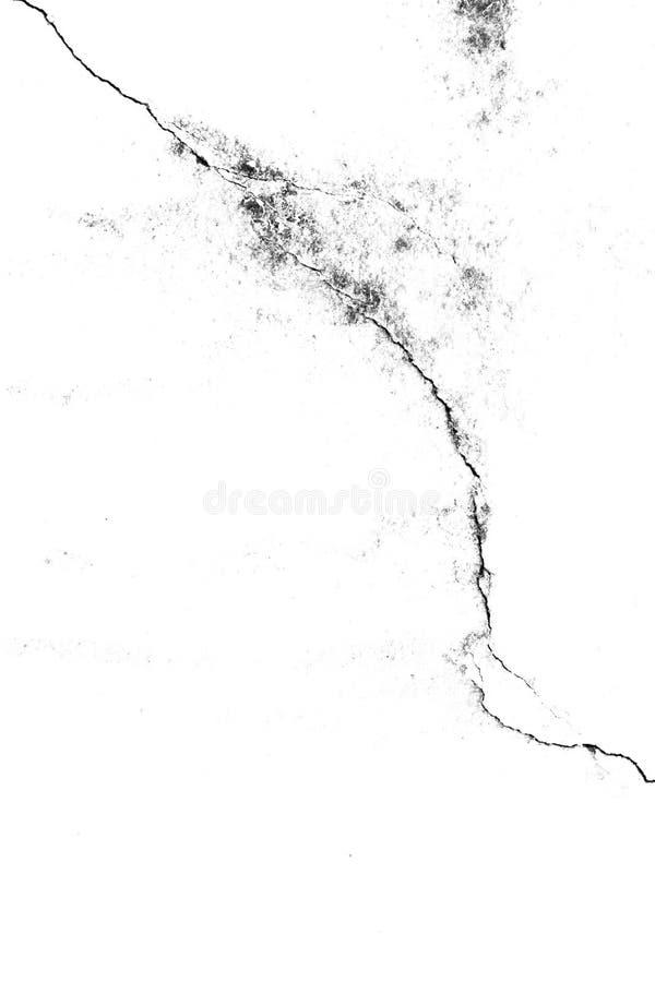 Donnez au fond une consistance rugueuse du vieux mur de fente, noir et blanc photographie stock