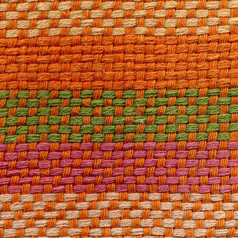 Donnez au tissu une consistance rugueuse dense d'armure fait de fil épais, satin, calicot, batiste, popeline image libre de droits