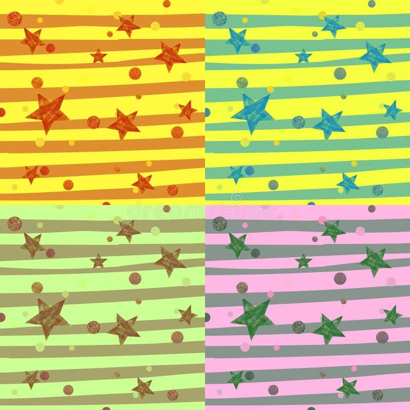 Donnez au tissu une consistance rugueuse géométrique de texture de papier peint de modèle lumineux abstrait décoratif de fond Fon illustration de vecteur