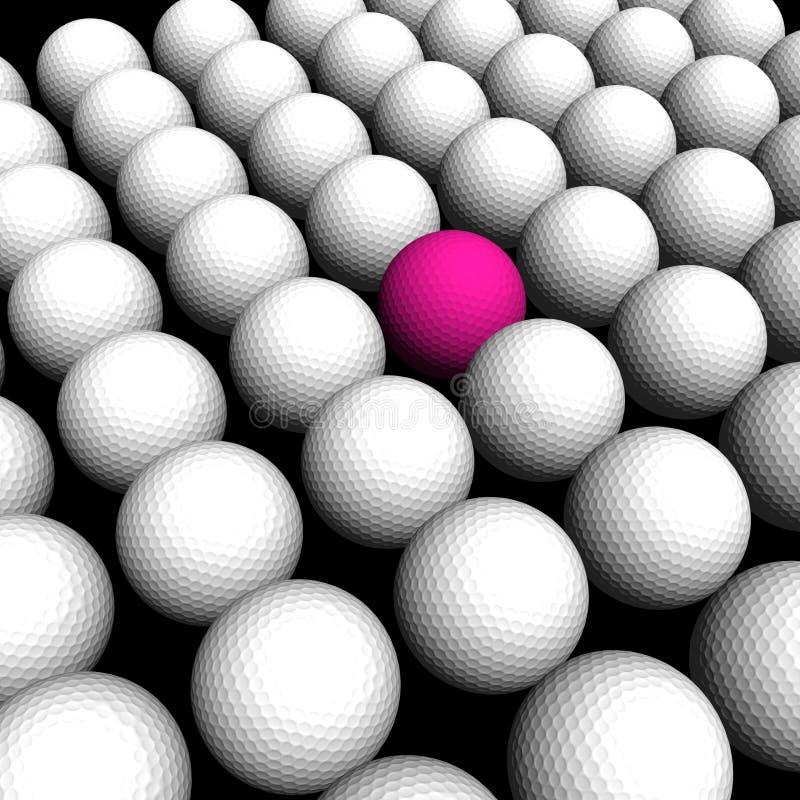Donnez aux billes une consistance rugueuse de golf illustration stock