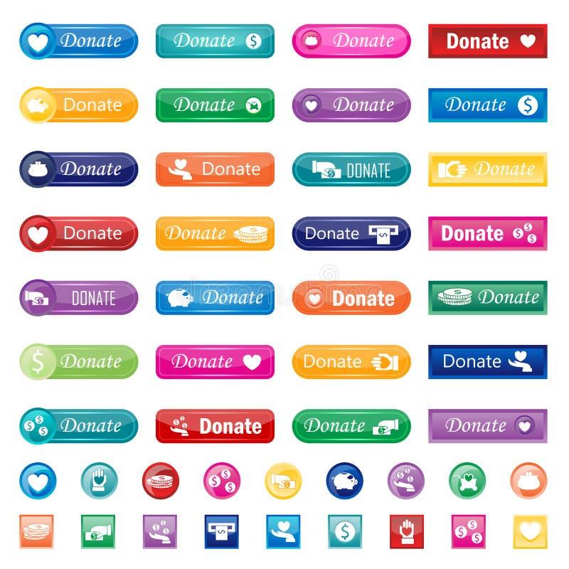 Donnez l'ensemble de vecteur de boutons illustration libre de droits