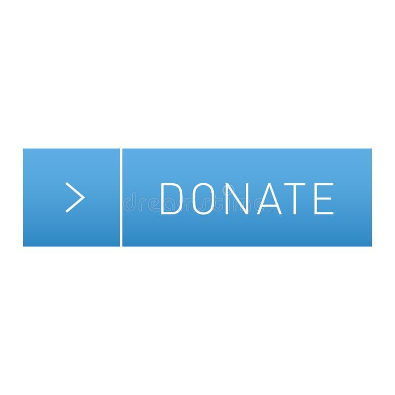 Donnez l'icône de vecteur de bouton illustration libre de droits