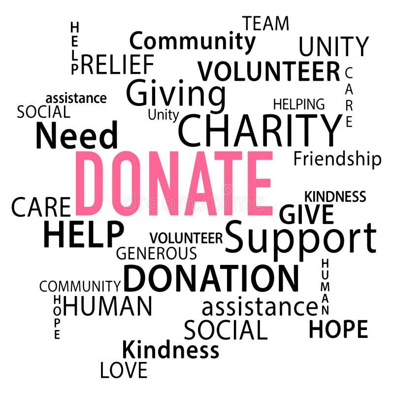 Donnez la donation illustration stock
