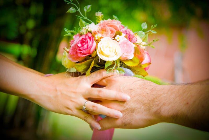 Donnez La Fleur Image libre de droits