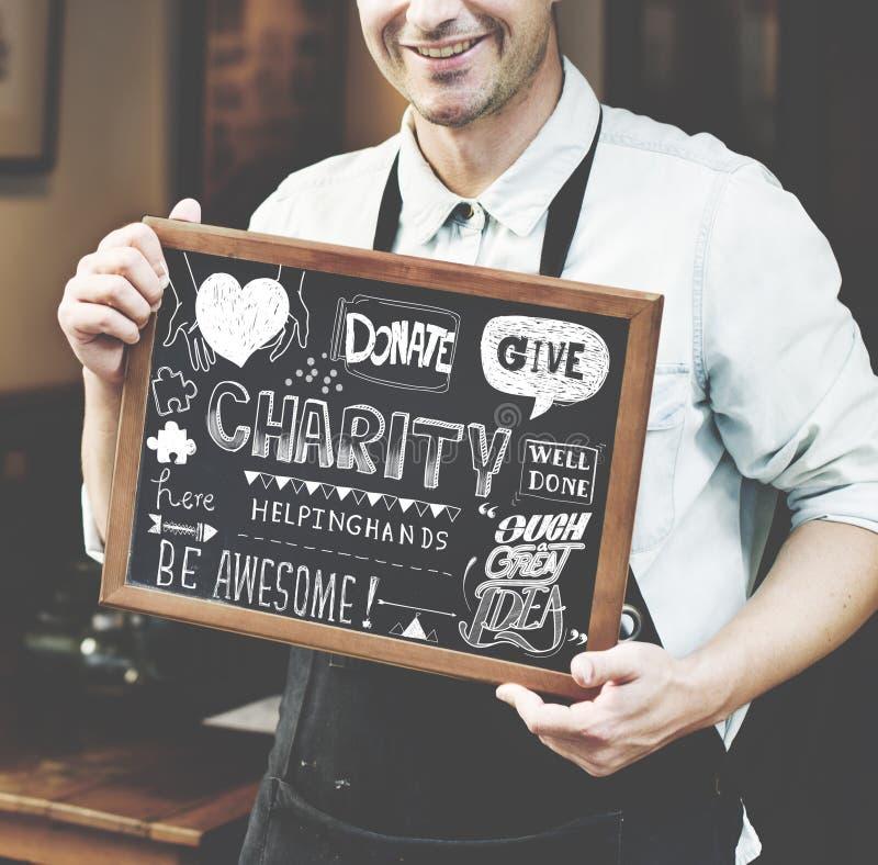 Donnez le concept de graphique de donation de charité photographie stock